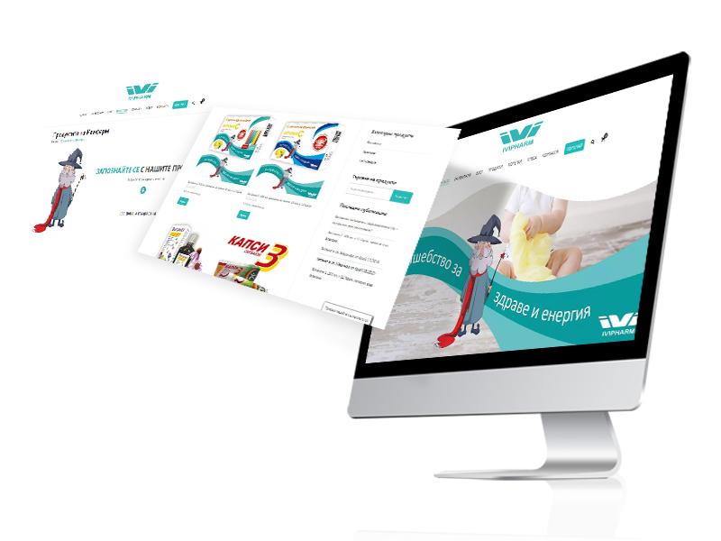 Изработка на сайт за фирма Ивифарм ЕООД