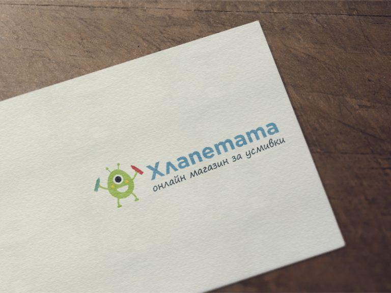 Дизайн на лого за сайта Хлапетата - онлайн магазин за усмивки